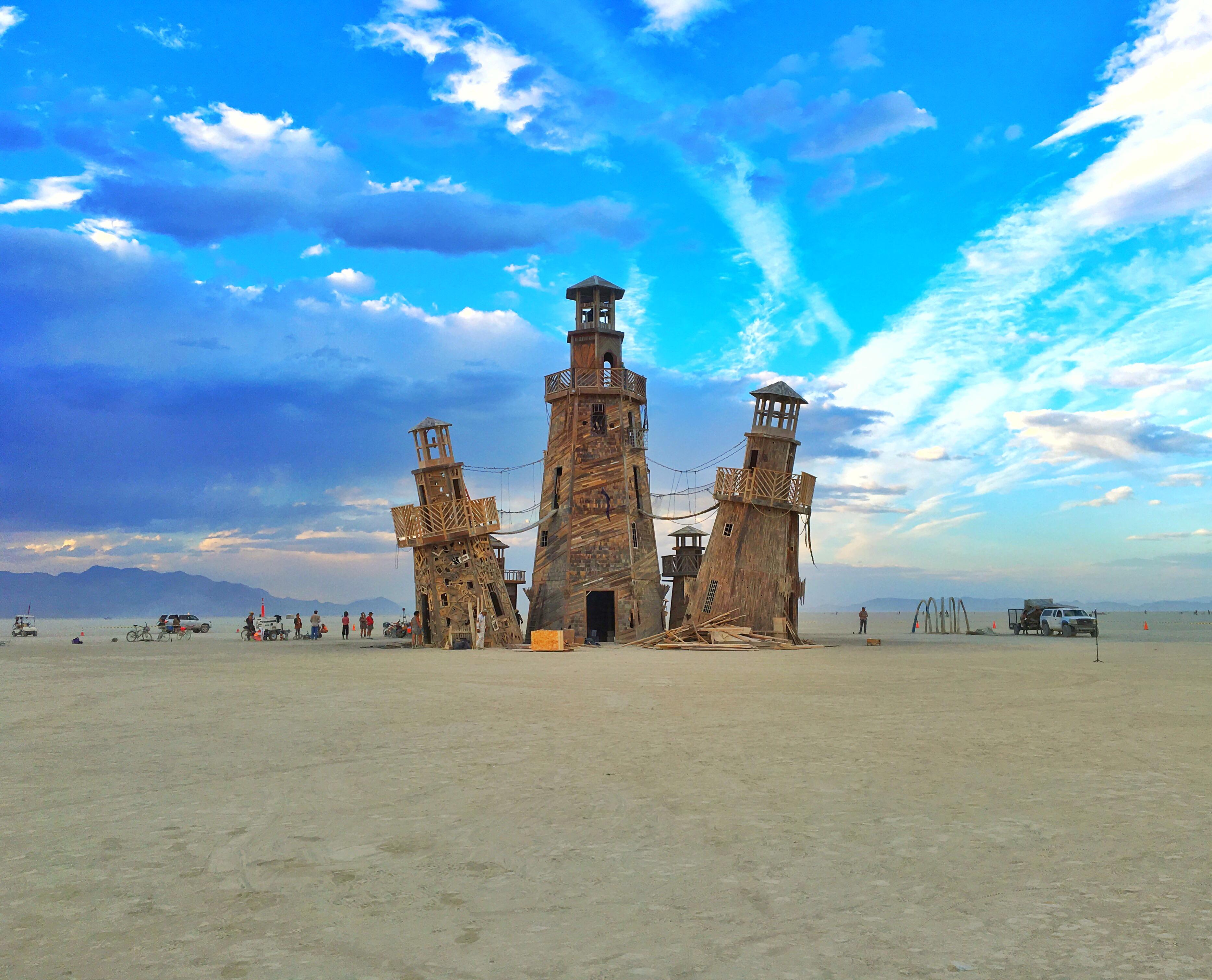 Burning Man Lighthouse Art, 2016