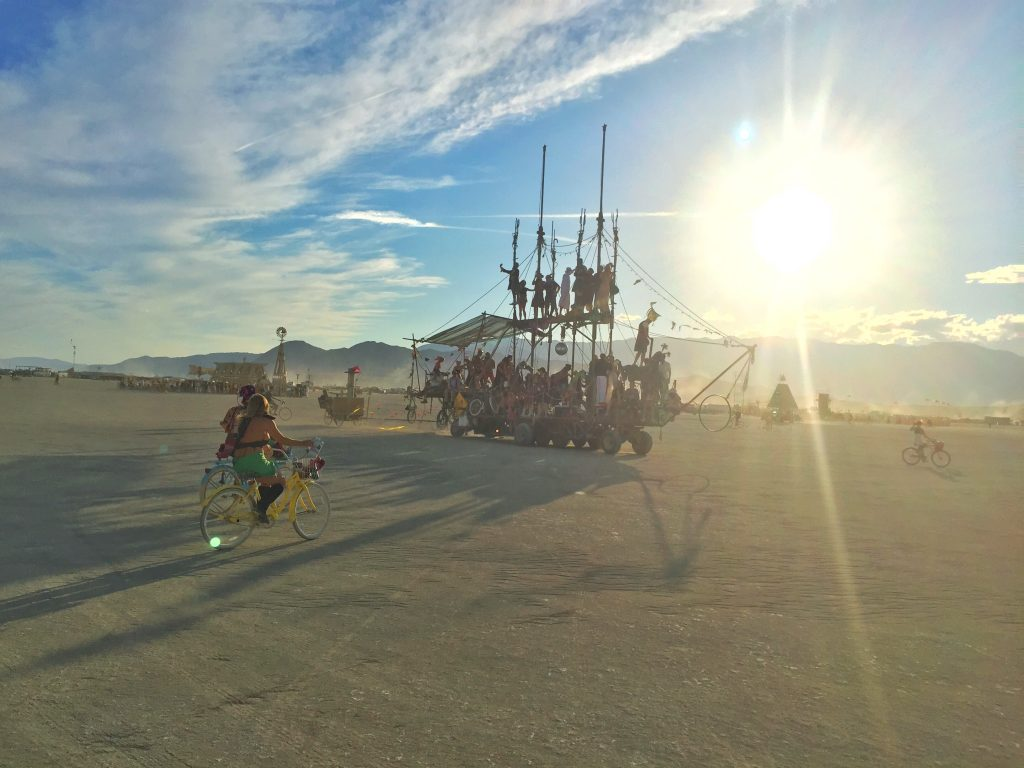 Pirate ship art car burning man