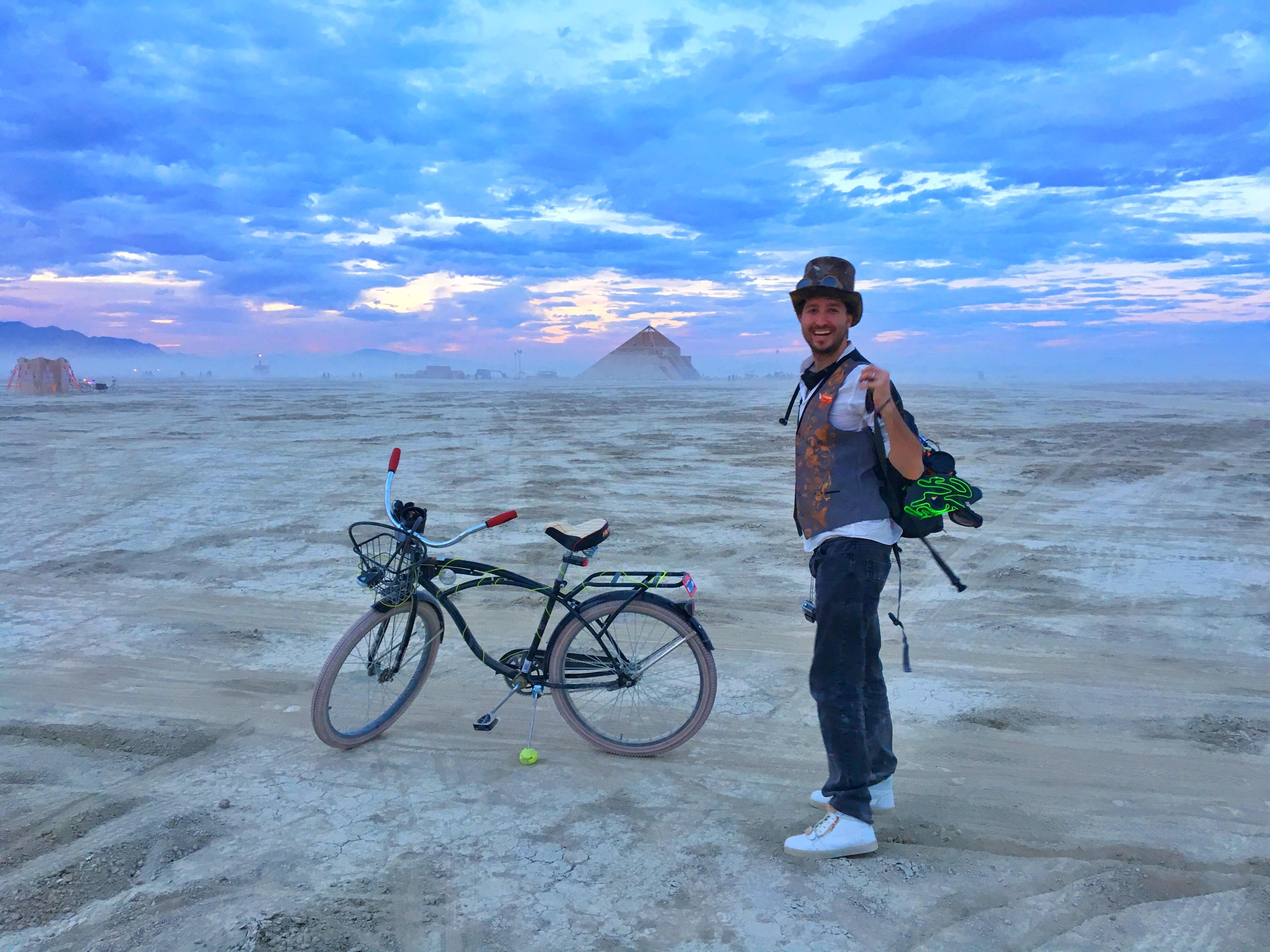 Burning Man at Sunset