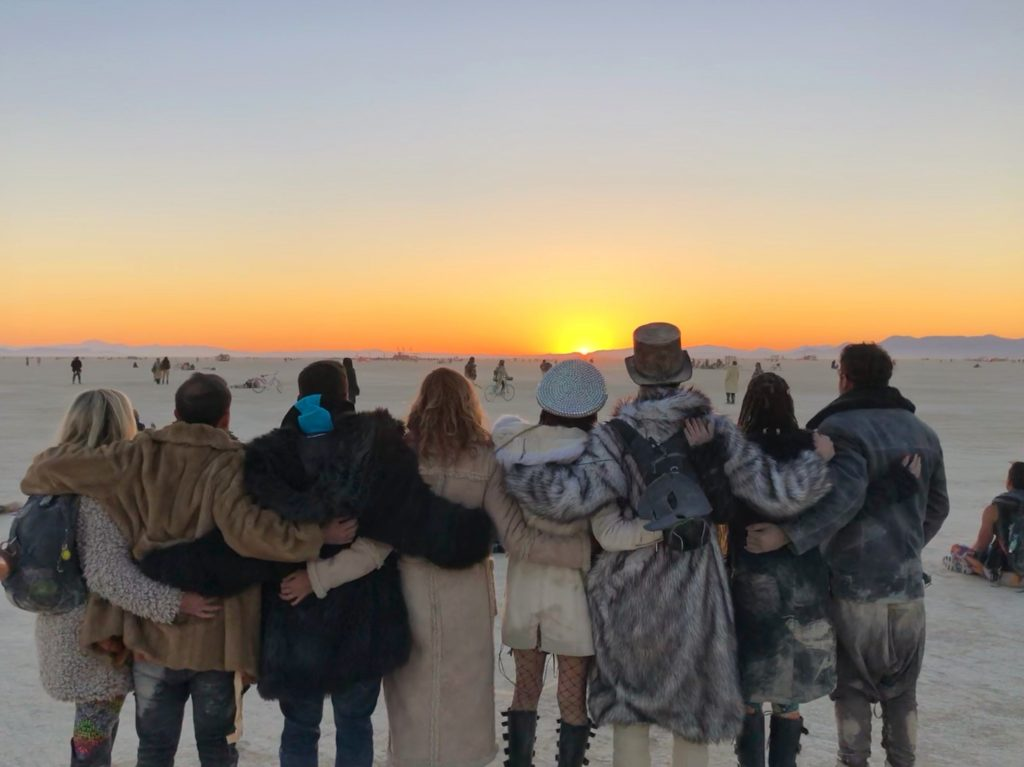 Sunrise Burning Man 2018 with Friends