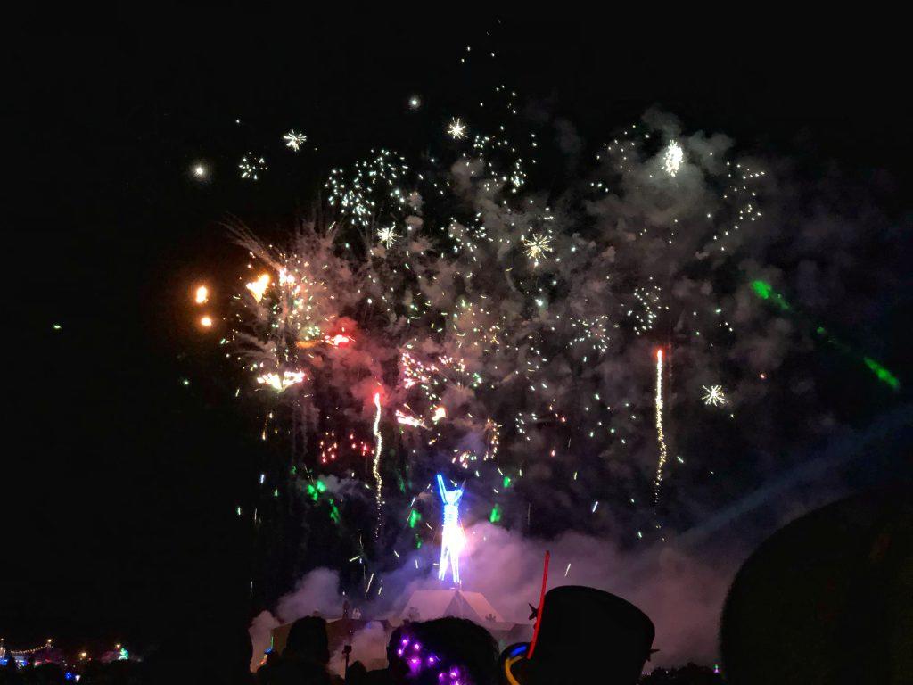 Fireworks at the Man Burn, 2018
