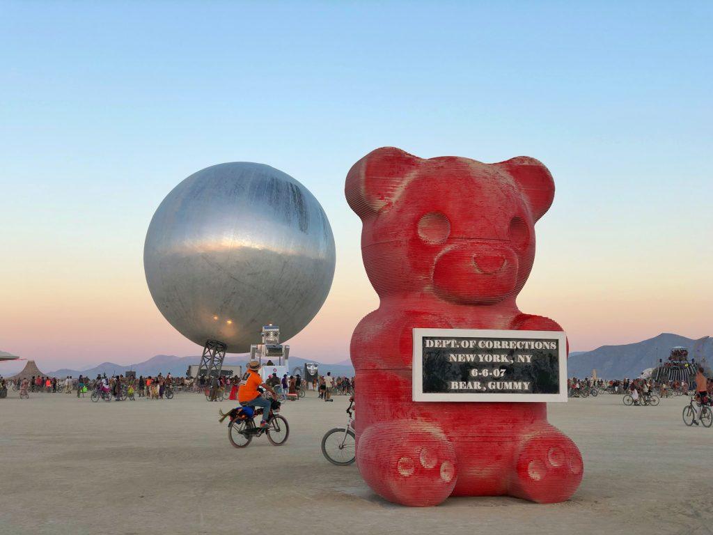 Gummy Bear Art Burning Man 2018