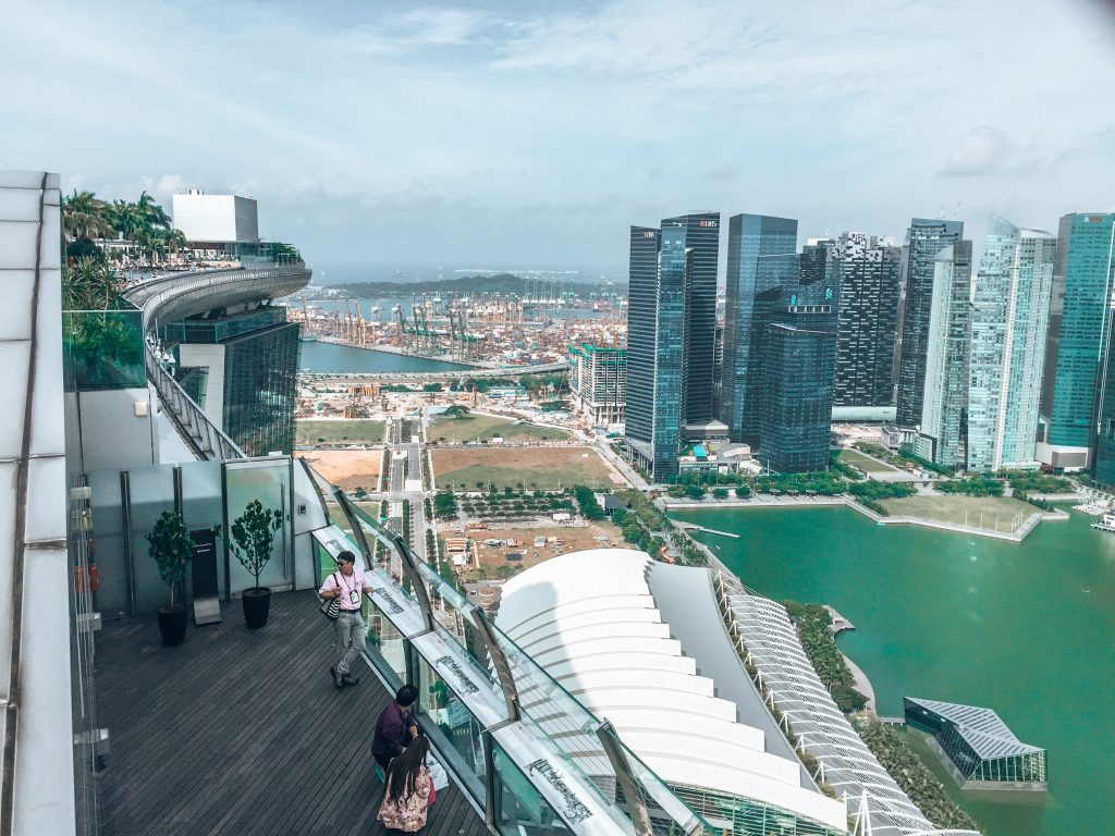 View from Marina Bay Sands Singapore