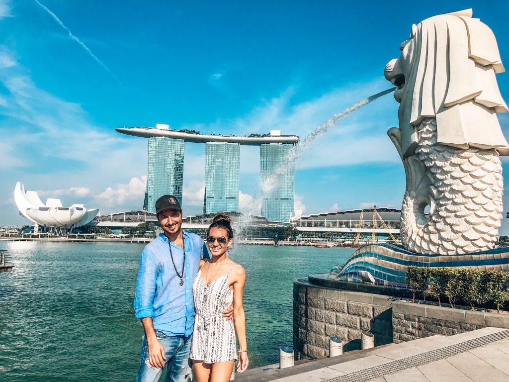 Merlion & Marina Bay Sands Singapore