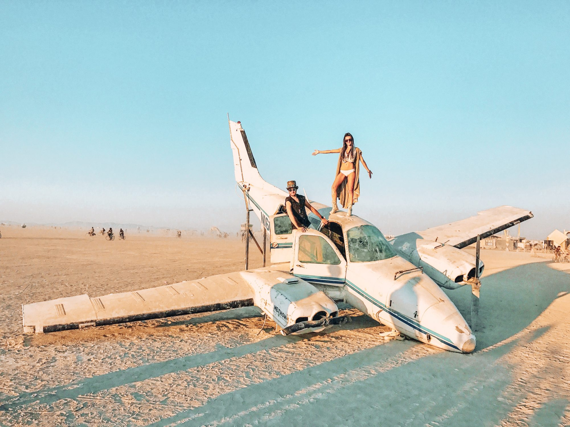 Plane Burning Man Art