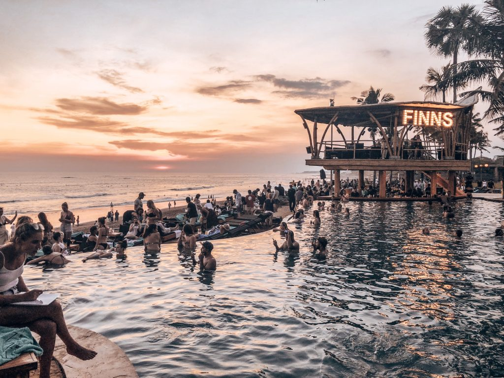 Finns Beach Club Bali Canggu Sunset