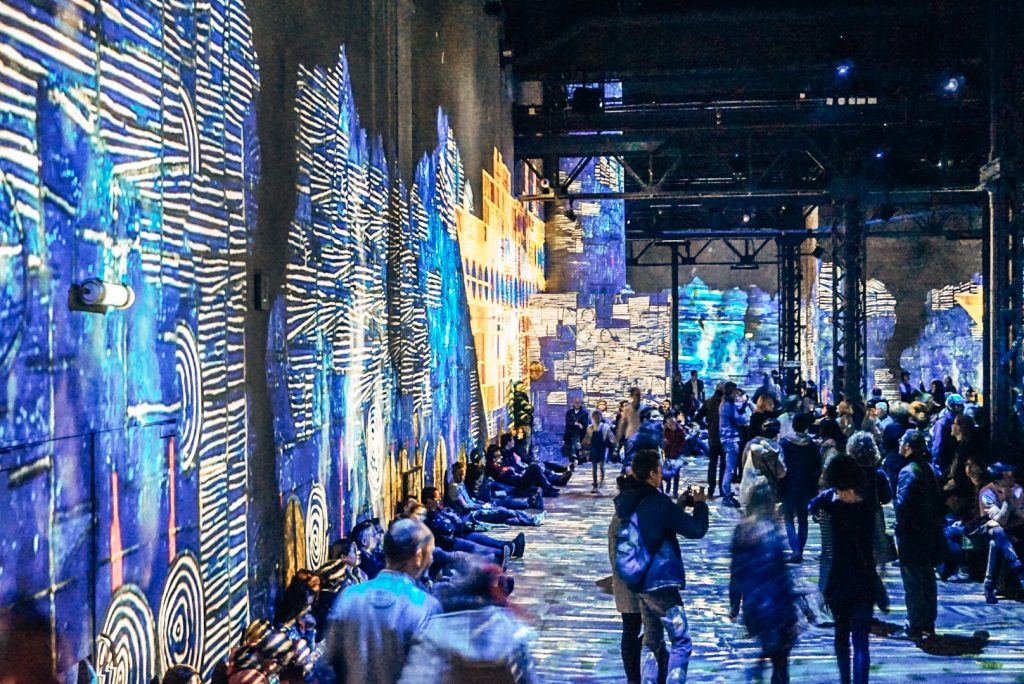 Atelier des Lumières light show in Paris, France