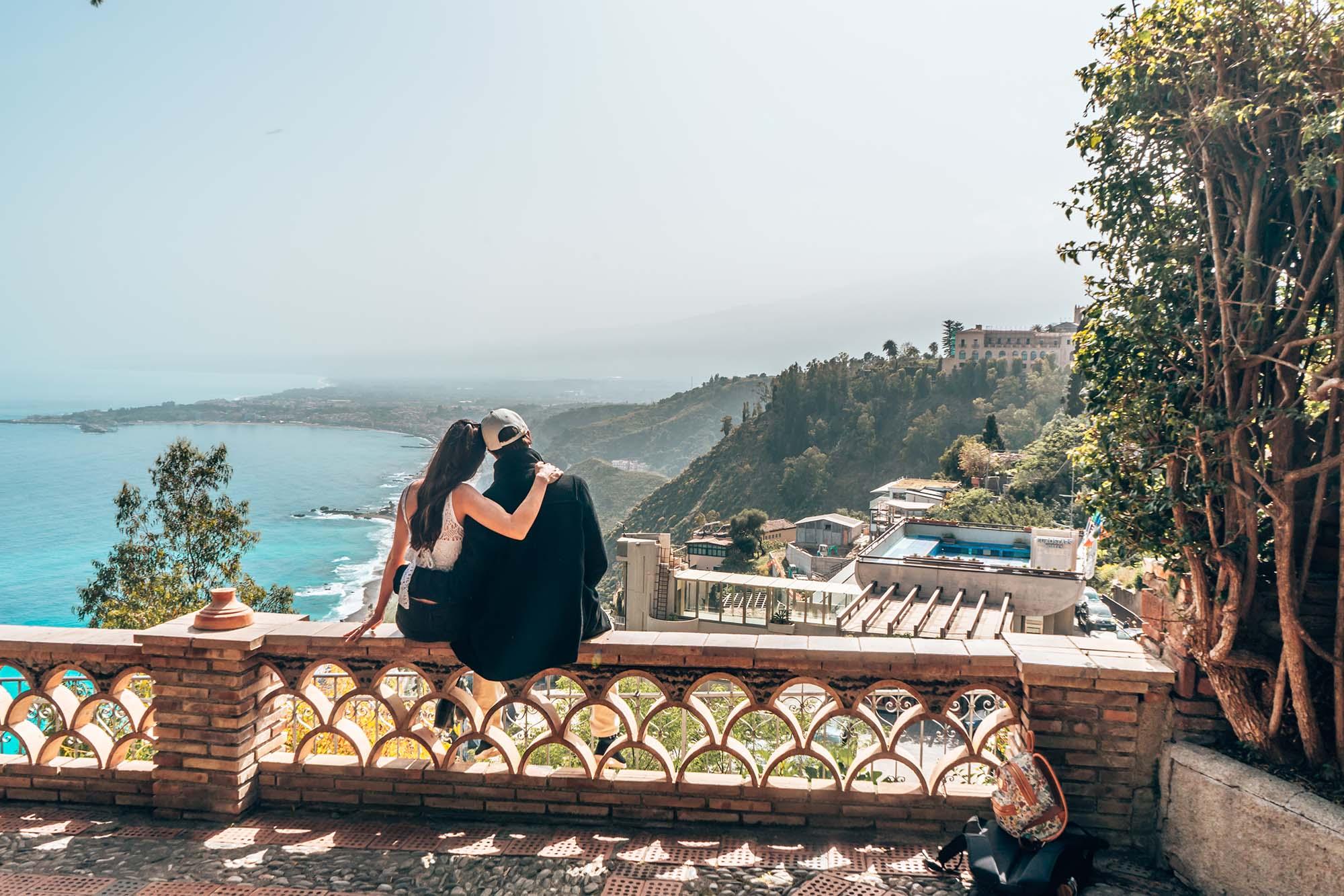 Garden with stunning sea views, Taormina Sicily