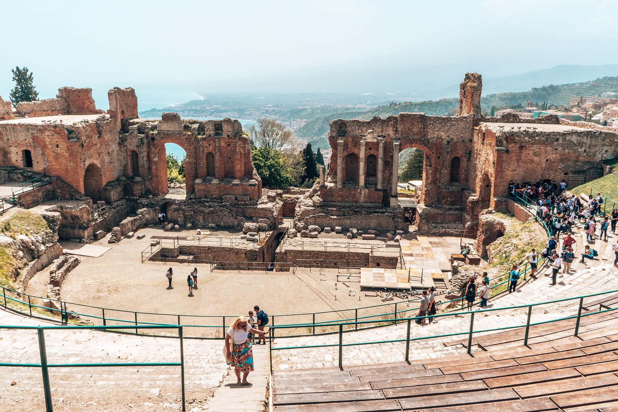 The Taormina Greek Theatre Sicily Italy