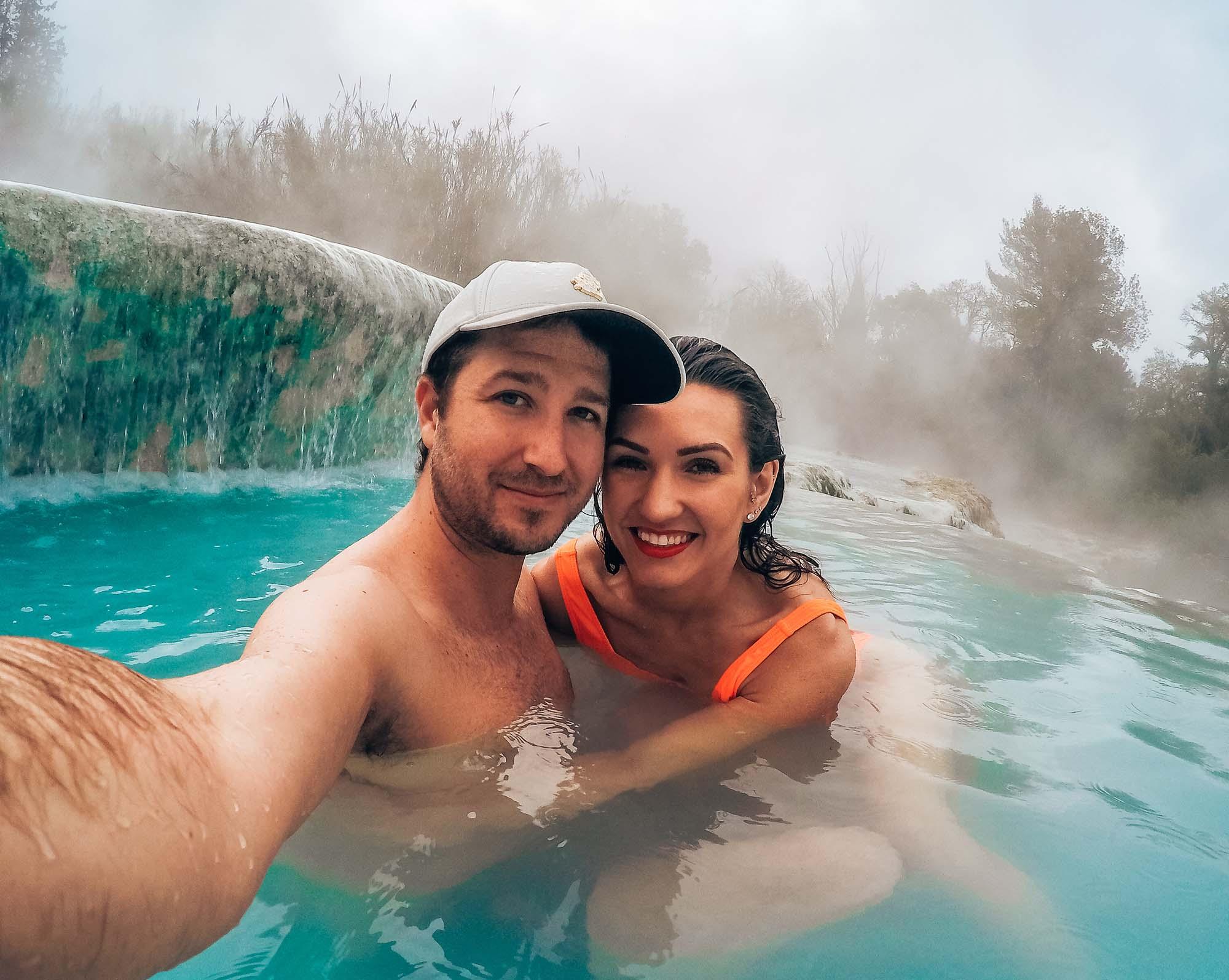 Cascate del Mulino selfie terme di saturnia
