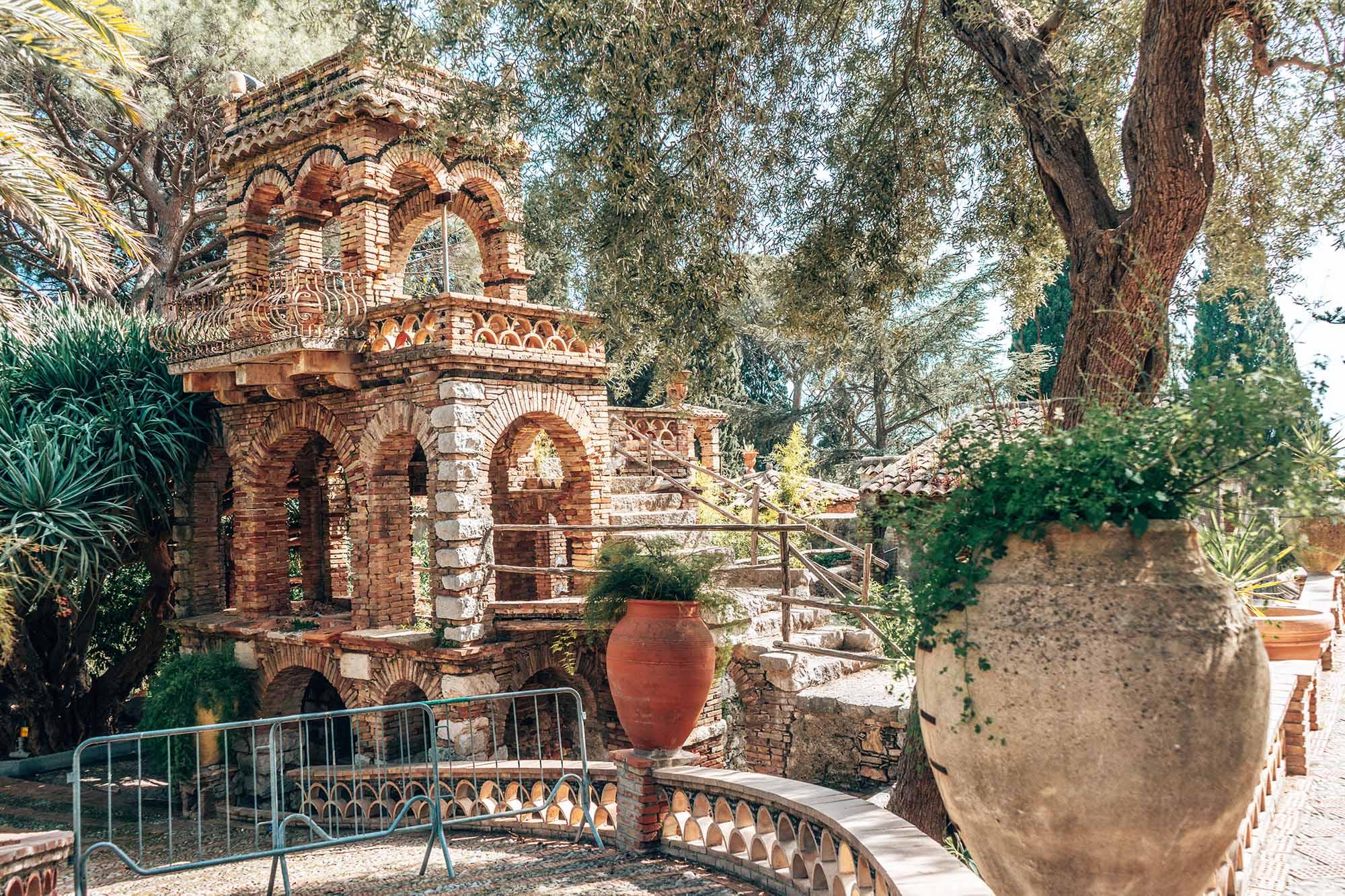 Villa Comunale Di Taormina Sicily Italy