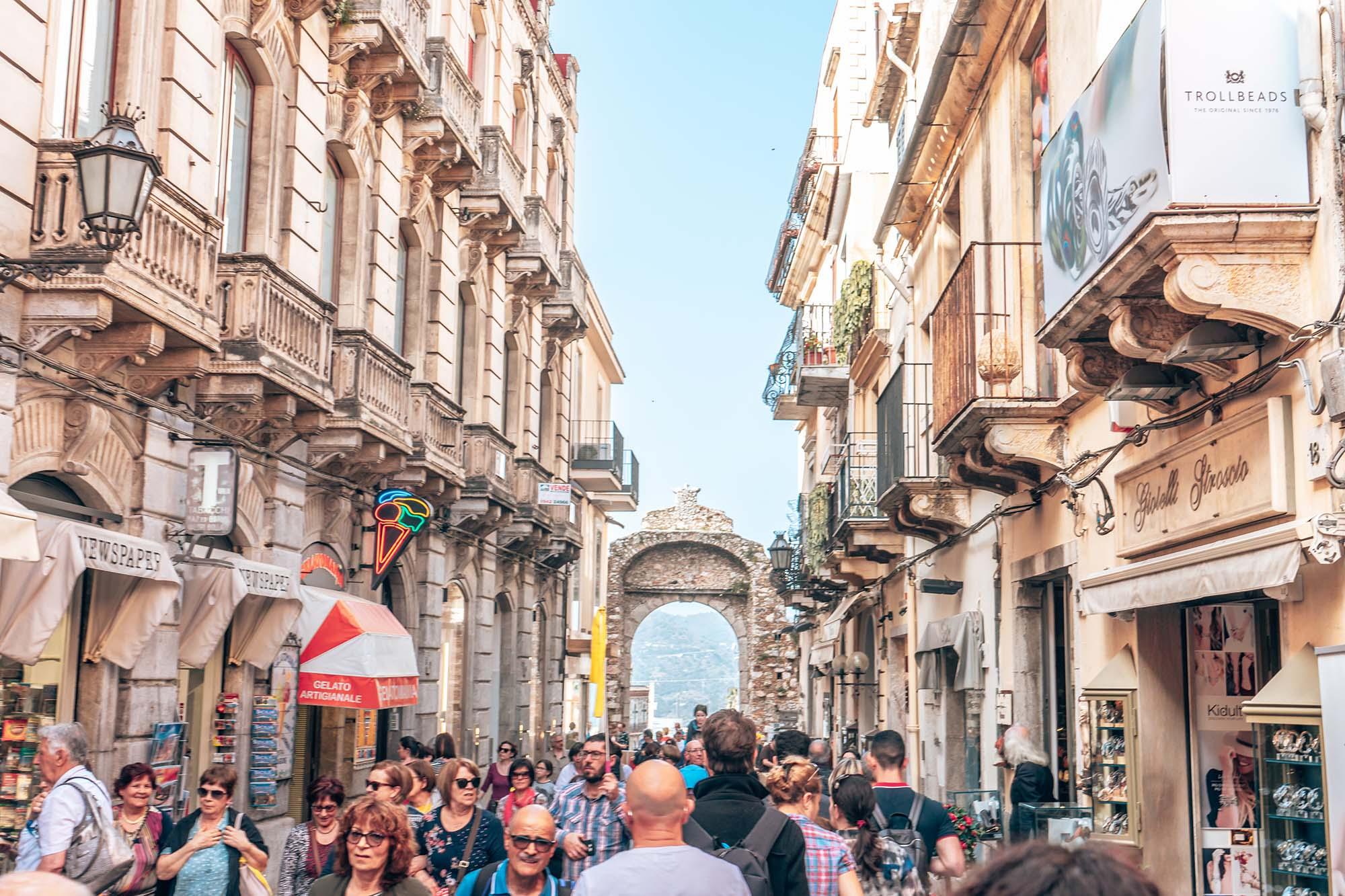 Taormina Town Streets Sicily