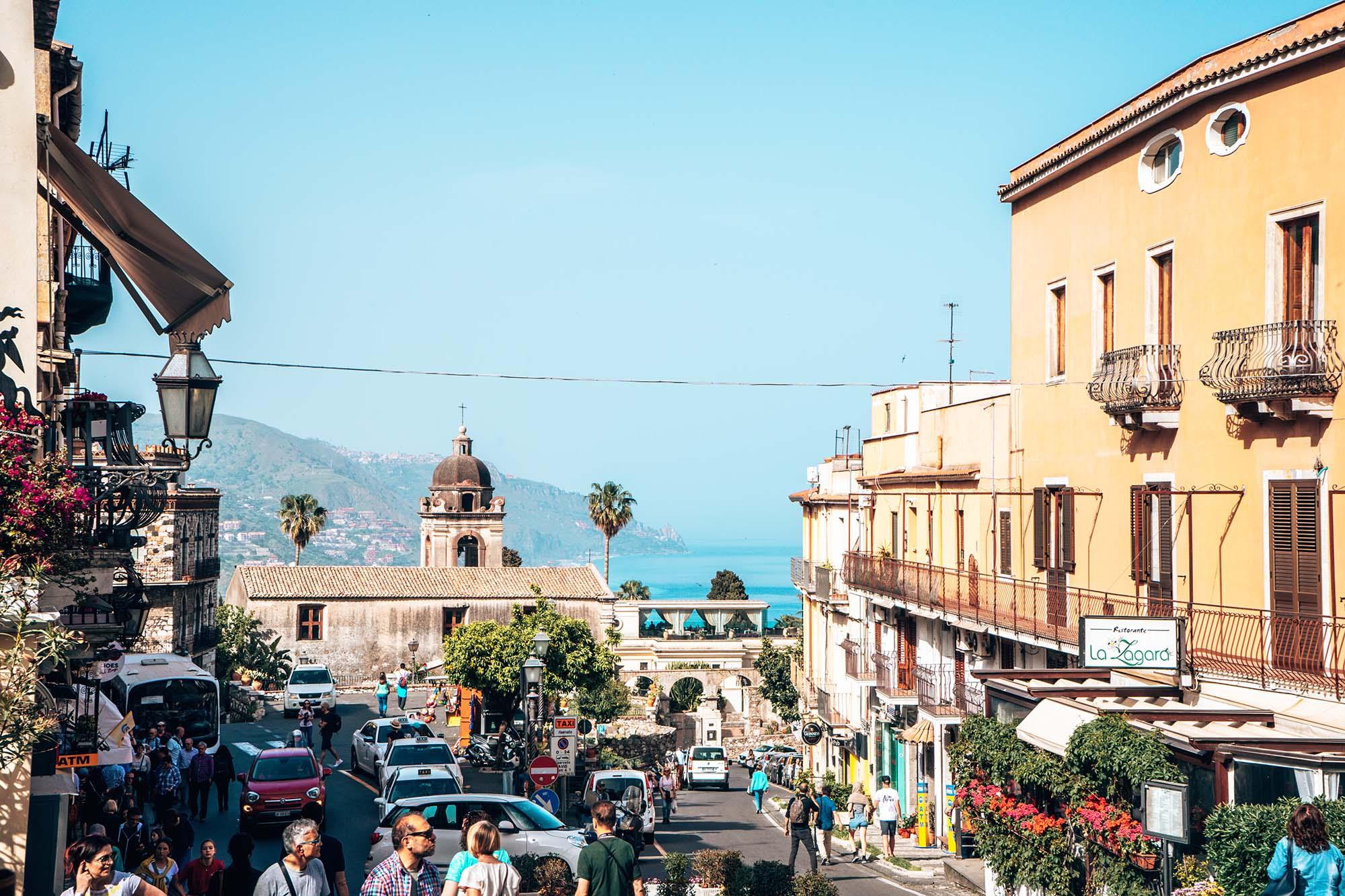 Taormina Town Sicily