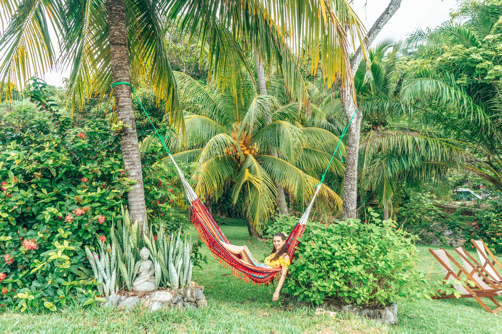 Lazing in a hammock at Montezuma Costa Rica
