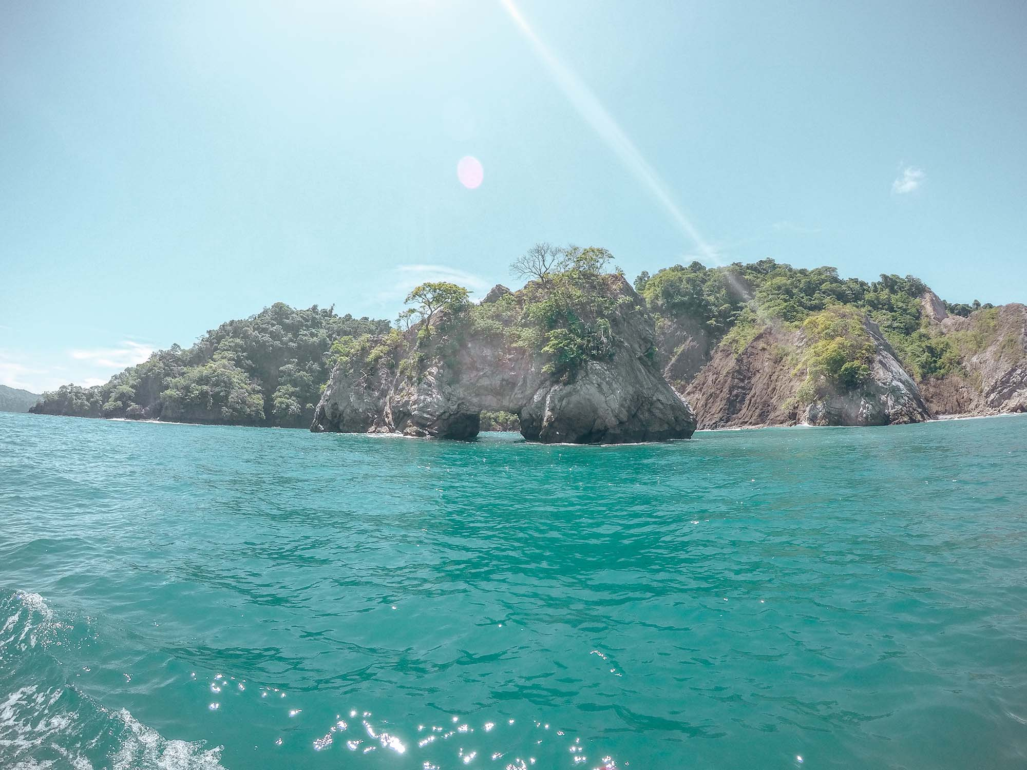 View on the boat ride over to Tortuga Island Costa Rica